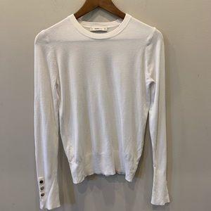 Zara white sweater size m